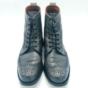 Allen Edmonds Gray Dalton Wingtip Boots Size 8.5 D